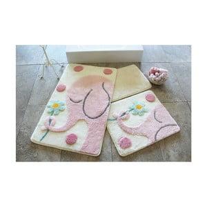 Sada 3 kúpeľňových predložiek Alessia Buyuk Fil Pink