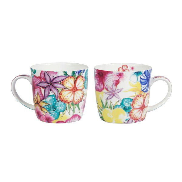 Sada 2 porcelánových hrnčekov Blooming