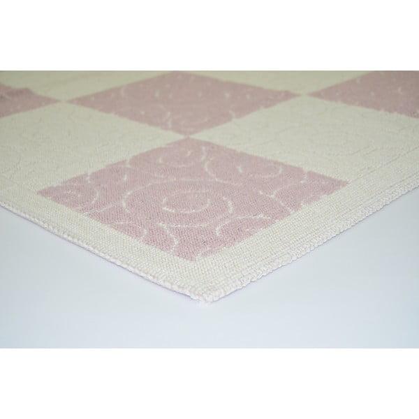 Pudrovoružový odolný koberec Vitaus Patchwork, 140x200cm