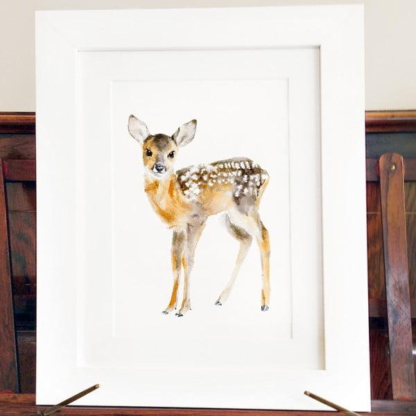 Plagát Baby Deer A4