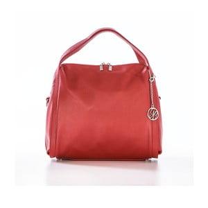 Kožená kabelka Riccardo, červená