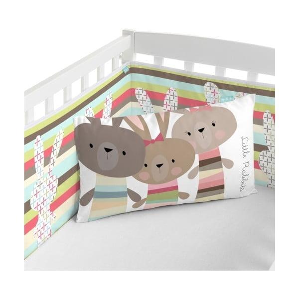 Textilná ohrádka na postieľku Little W Rabbit, 60x60 cm