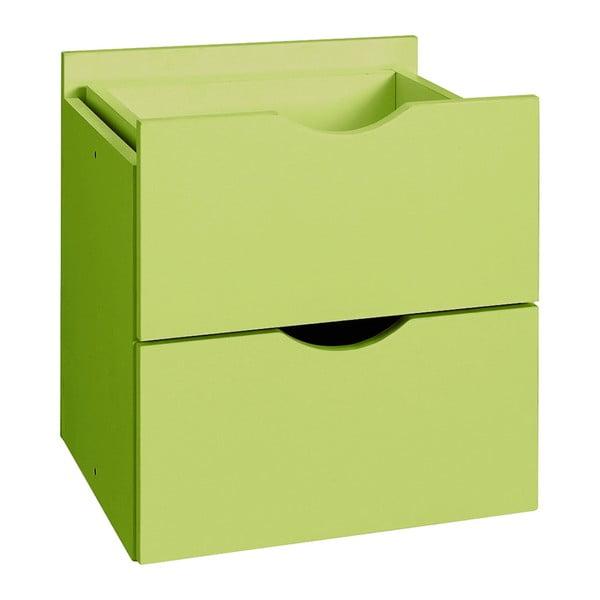 Zelená dvojitá zásuvka do regálu Støraa Kiera, 33×33cm