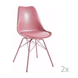 Sada 2 ružových jedálenských stoličiek 13Casa Marianne