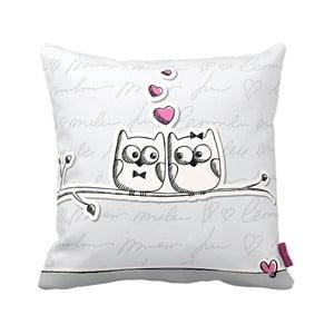Vankúš Owl Lovers, 43x43 cm