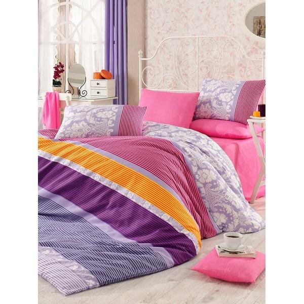 Fialové obliečky s plachtou Love Colors Noble, 160 x 220 cm