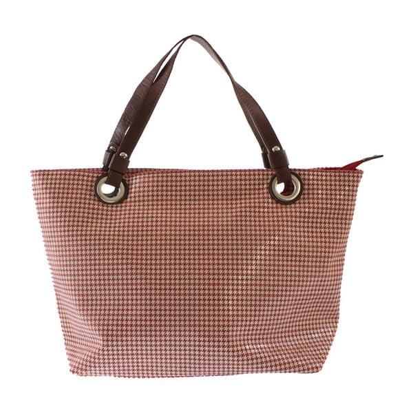 Červená kožená taška Goldie