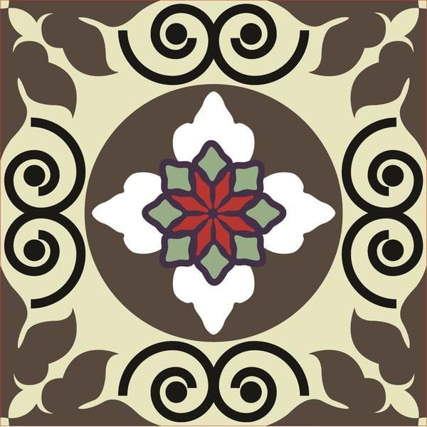 Samolepky Tile Art Brown Symbols