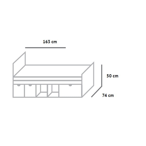 Posteľ Fam Fara, 70x160 cm