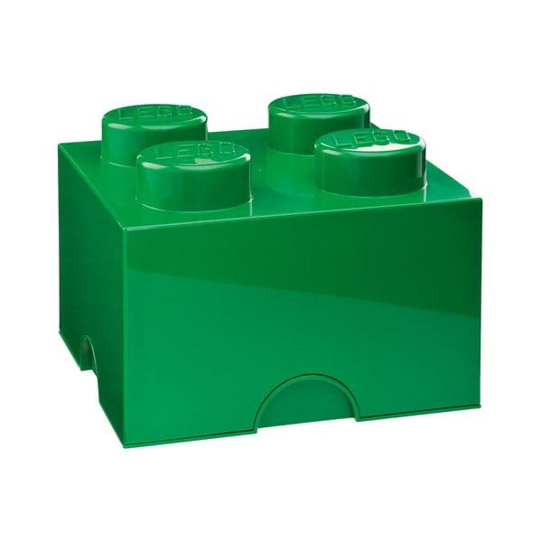 Zelený úložný bo× štvorec LEGO®