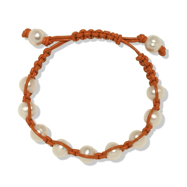Oranžový perlový náramok Nova Pearls Copenhagen Mara de Vida