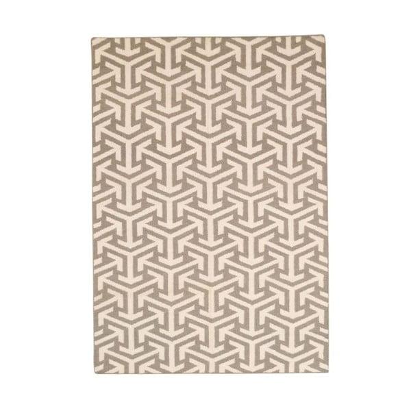 Vlnený koberec Bakero Kilim No. 305 Grey, 60 x 90 cm