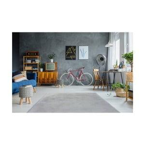 Sivomodrý ručne vyšívaný koberec Arte Espina Rabbit 100, 80 × 150 cm