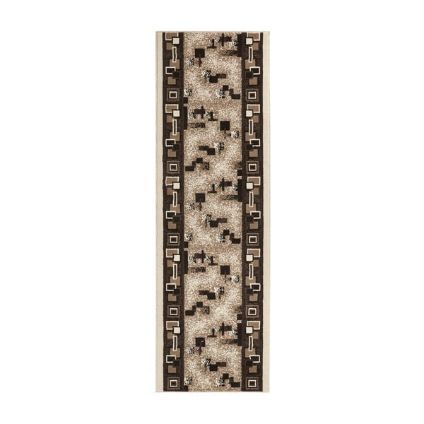 Koberec Basic Retro, 80x350 cm, krémový