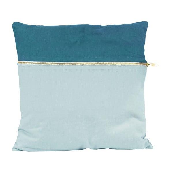 Vankúš Present Time Duo Blue, 45x45 cm