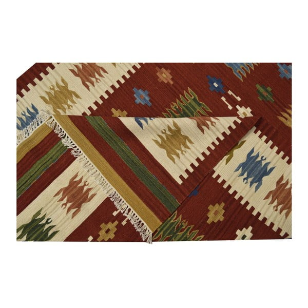 Ručne tkaný koberec Kilim Jasmine, 95x155 cm