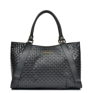 Čierna kožená kabelka Luisa Vannino Maya