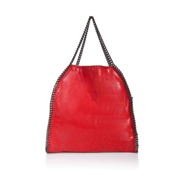 Kožená kabelka Markese 126 Red
