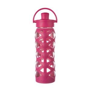 Sklenená fľaša na vodu so silikónovým chráničom Lifefactory Guava Activ, 650 ml