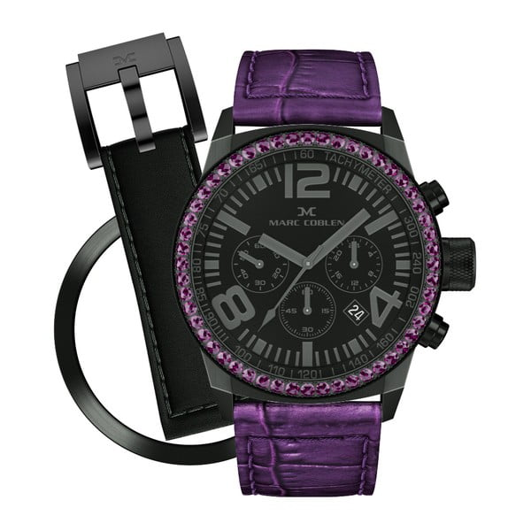 Dámske hodinky Marc Coblen s remienkom a krúžkom na ciferník naviac P118