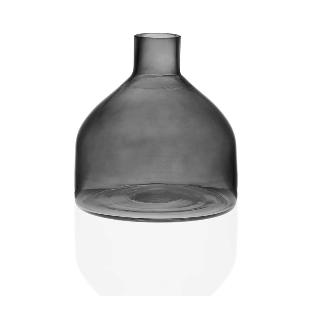 Sivá sklenená váza Versa Prahna, výška 19,5 cm