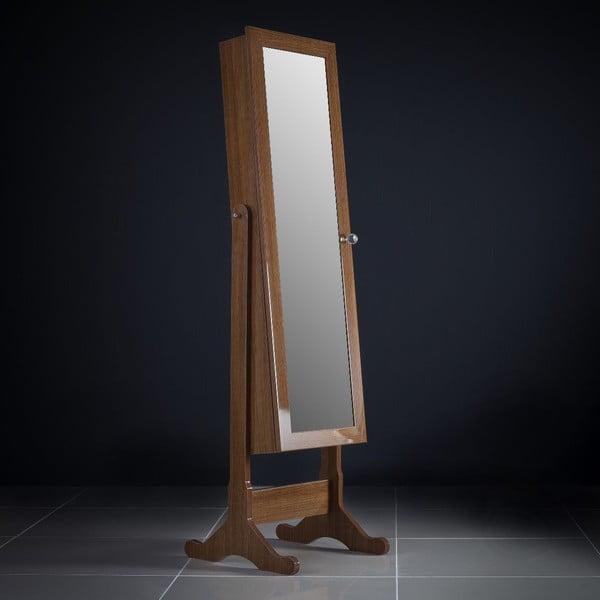 Uzamykateľné stojacie zrkadlo so šperkovnicou Rebecca