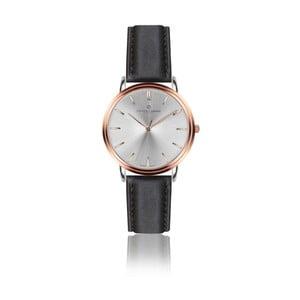 Pánske hodinky s čiernym remienkom z pravej kože Frederic Graff Rose Breithorn Black Leather