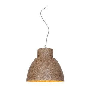 Hnedé závesné svetlo z drevenej drviny Good&Mojo Cebu
