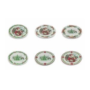 Sada 6 vianočných dekoratívnych plastových tanierov Villa d'Este XMAS Sottopiatto Tondo, ⌀ 33 cm