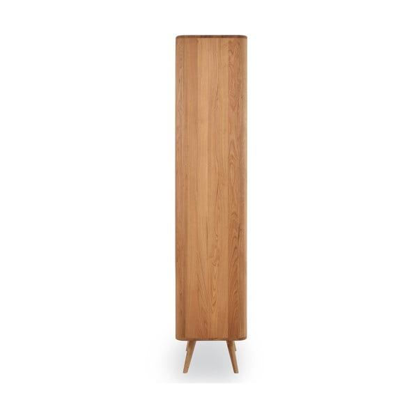 Knižnica z dubového dreva Gazzda Ena, 60 x 42 x 196 cm