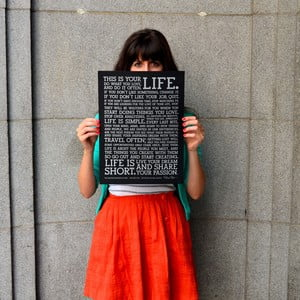 Plagát Manifesto Black, 30x41 cm