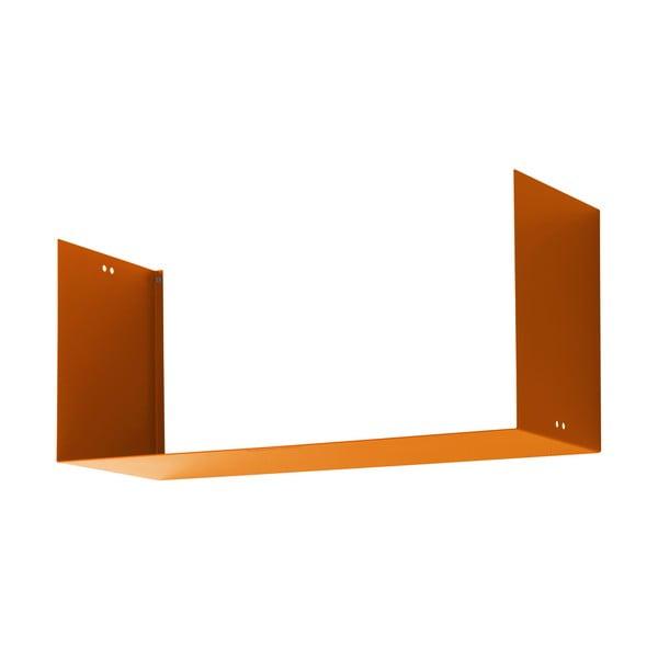 Nástenná polica Geometric Three, oranžová