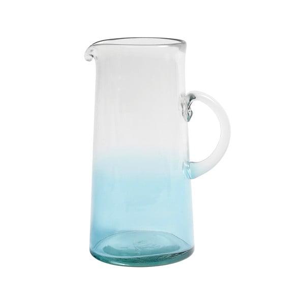Modrý sklenený džbán Nordal Mexican Bubble