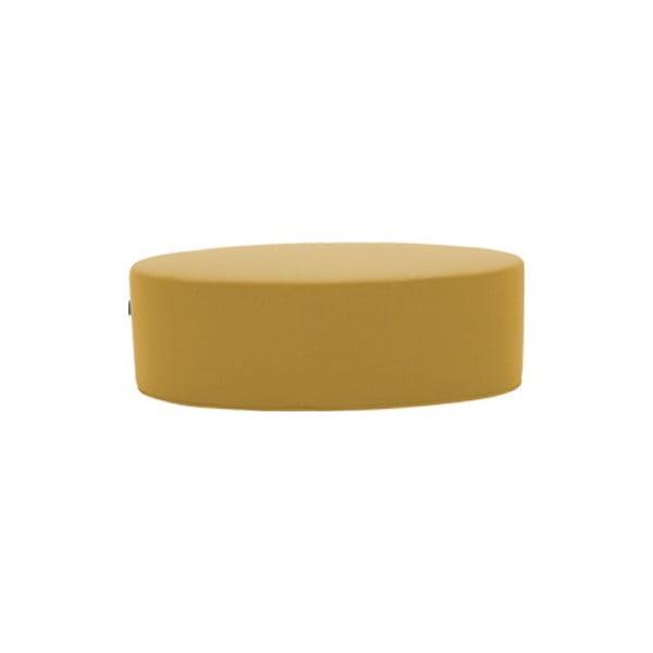 Žltý puf Softline Bon-Bon Vision Yellow, dĺžka 60 cm