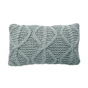 Svetlosivý pletený vankúš OVERSEAS Diamond, 30x50cm