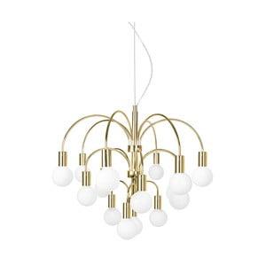 Závesné svietidlo vo farbe mosadze Globen Lighting Grace XL