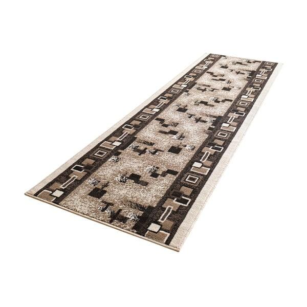 Koberec Basic Retro, 80x300 cm, krémový