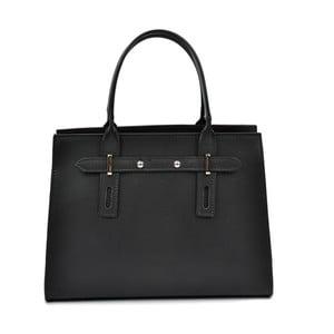 Čierna kožená kabelka Mangotti Bags Marcia