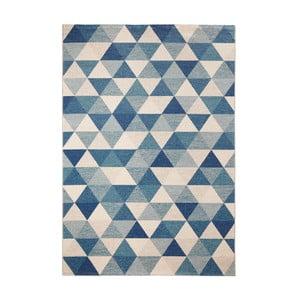 Modrý koberec Schöngeist & Petersen Diamond Triangle, 80 x 150 cm