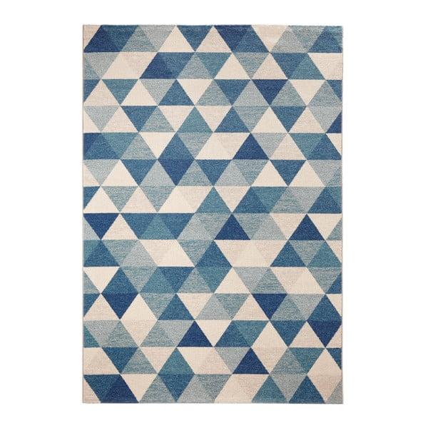 Modrý koberec Schöngeist & Petersen Diamond Triangle, 133 x 195 cm