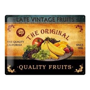 Plechová ceduľa Fruit, 30x40 cm