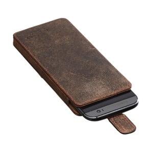 Hnedé kožené puzdro na Samsung Galaxy S7 Packenger