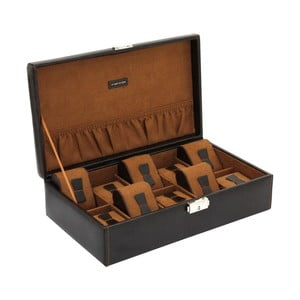 Hnedý box na 10 hodiniek Friedrich Lederwaren Bond