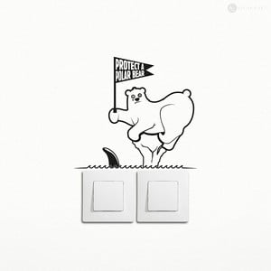 Samolepka Save a Polar Bear