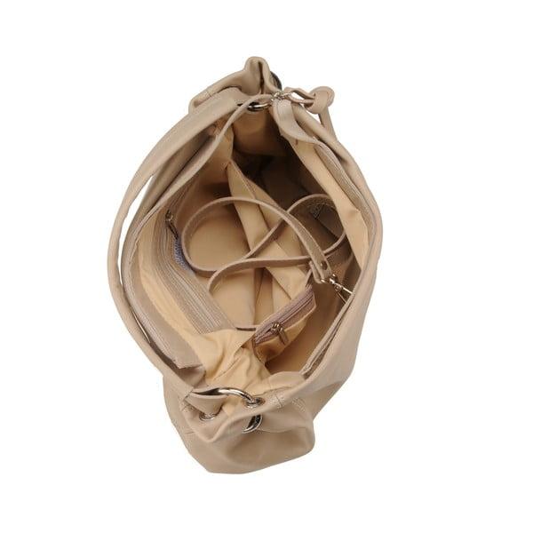 Kožená kabelka Agena, béžová