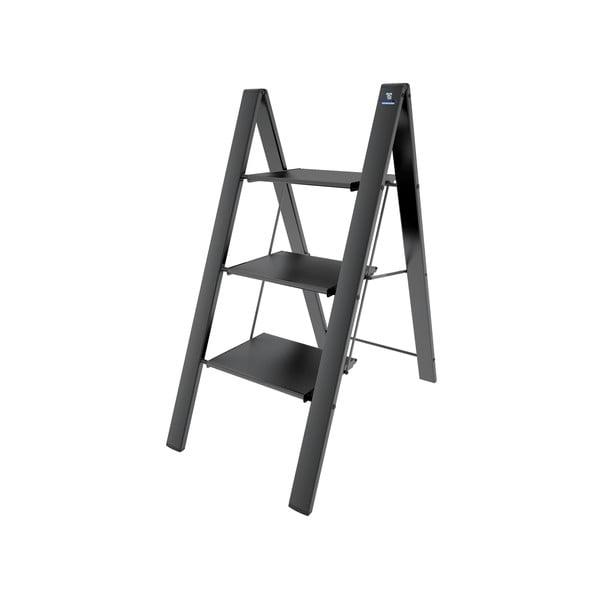 Čierny skladací rebrík Colombo New Scal Leonardo 3