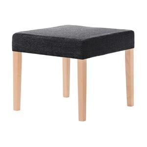 Čierna stolička s hnedými nohami Ted Lapidus Maison Pétale