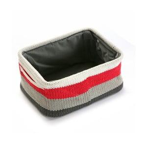 Pletený vlnený košík Stripes