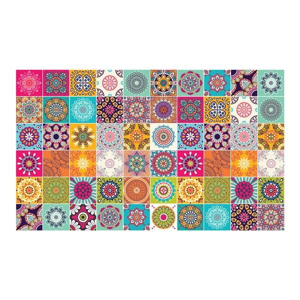 Sada 60 nástenných samolepiek Ambiance Tiles Vintage, 10 × 10 cm