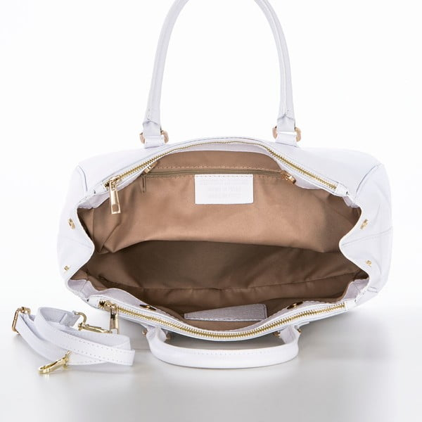 Kožená kabelka Ano White
